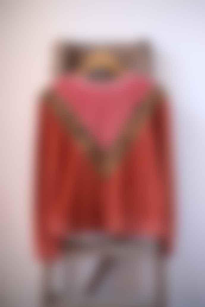 Leon & Harper Pink Velvet Sandia Leopard Sweatshirt