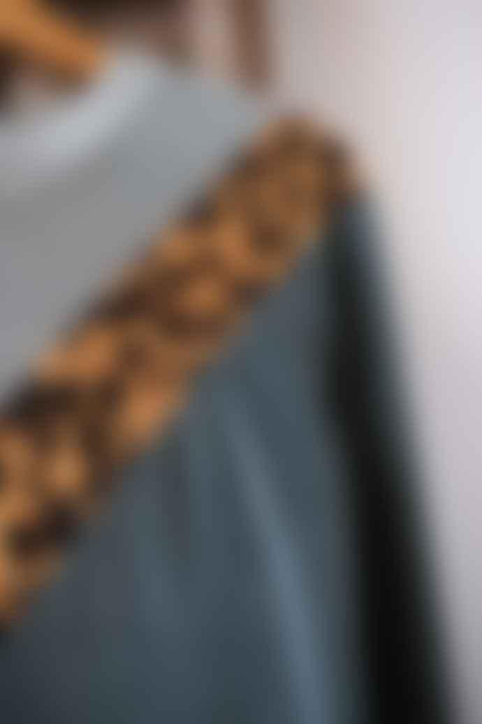 Leon & Harper Teal Velvet Sandia Leopard Sweatshirt