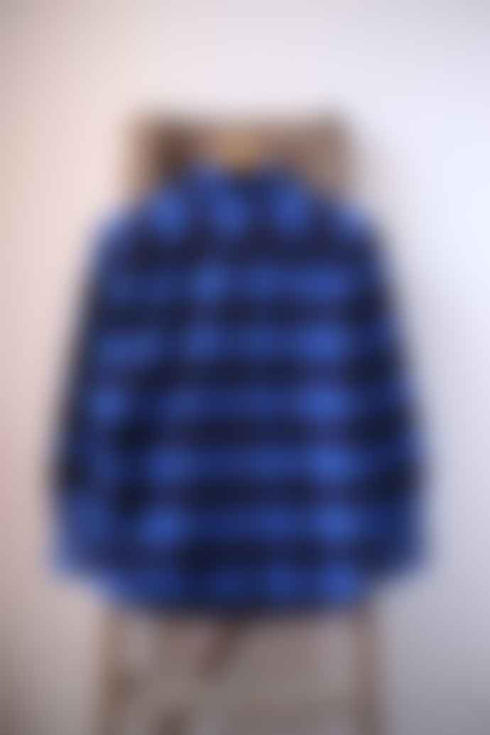 Leon & Harper Cricket Blue Checked Flannel Shirt
