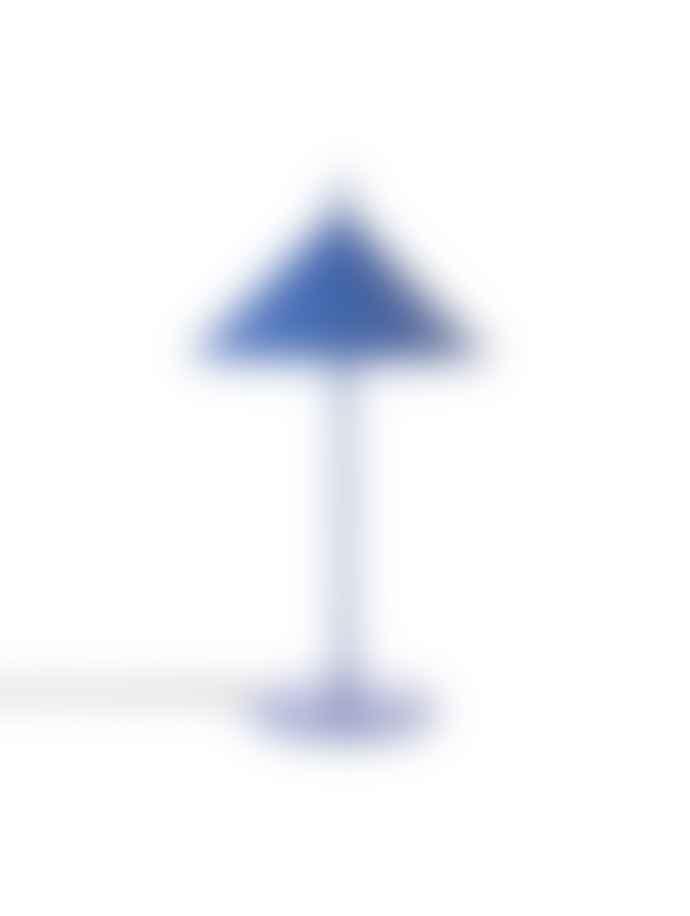 HK Living Cobalt Blue Metal Triangle Table Lamp