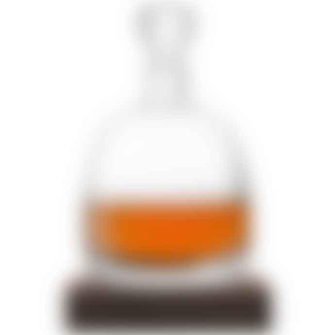LSA International 1L Whisky Islay Decanter on a Walnut Base