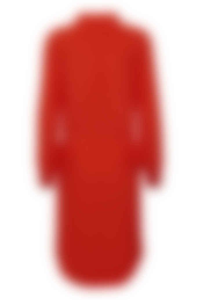 Part Two Fiery Red Tea Dress