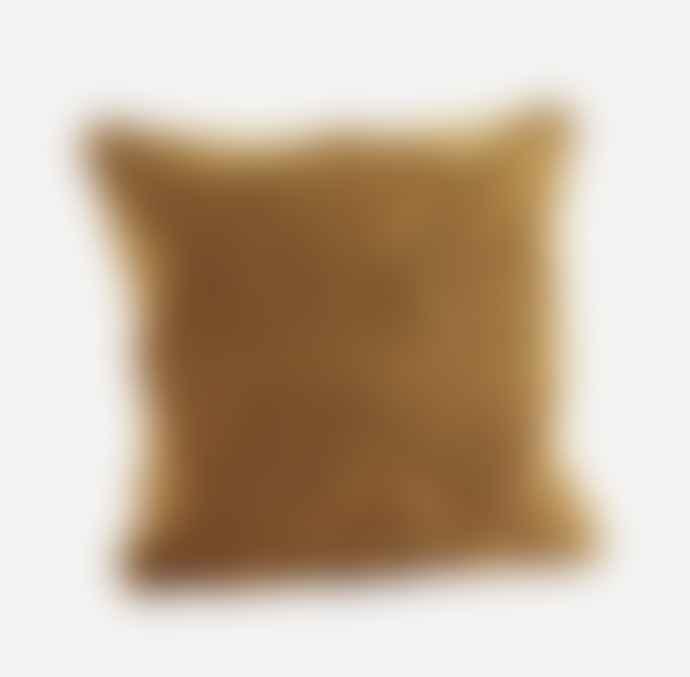 Madam Stoltz Boho Textured Mustard Cushion
