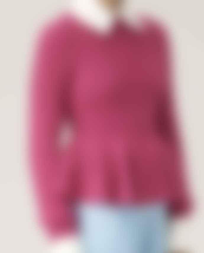 Stine Goya Lucio Peplum Knit Pink