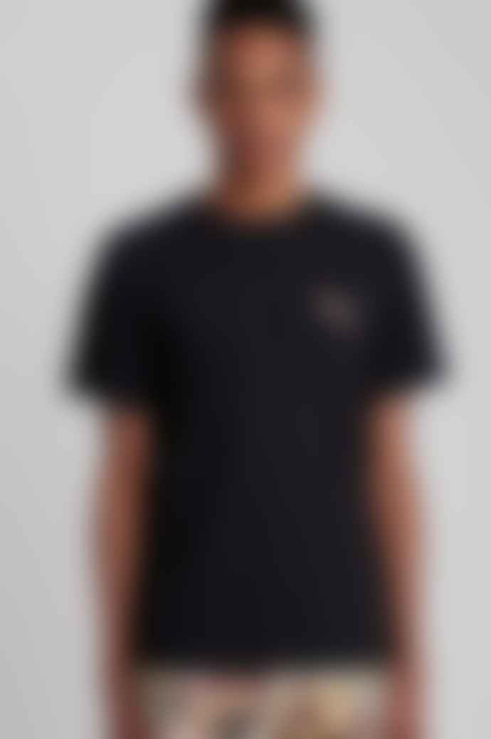 Saturdays NYC Gotham Slash Chest Short Sleeve T Shirt In Black