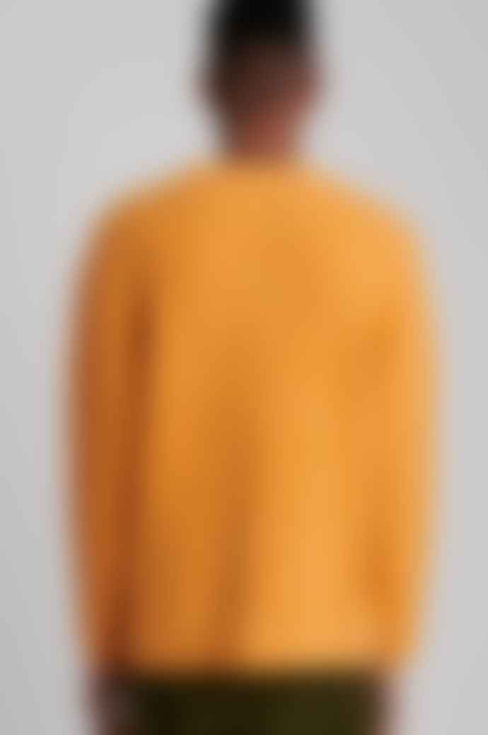 Saturdays NYC Wade Boucle Sweater In Saffron