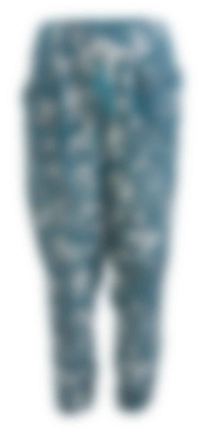 Wallace Cotton Teal Cotton and Modal Botanical Print Love Tale PJ Bottom