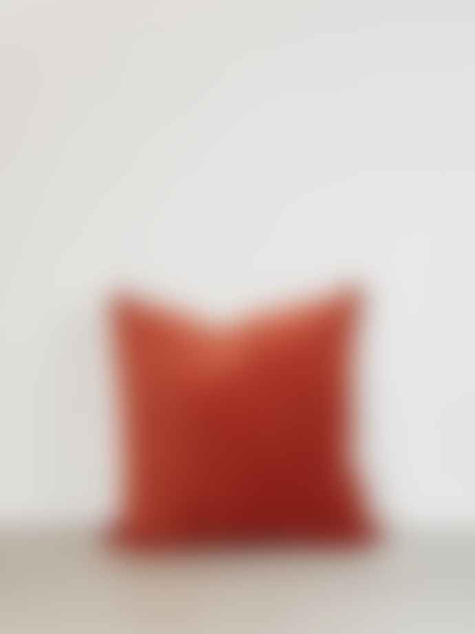 Also Home Unari Rust Velvet Cushion with Piping