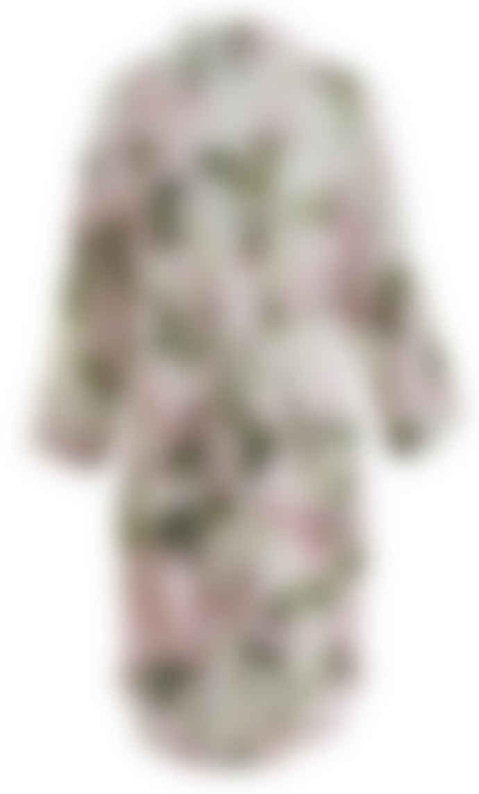 Wallace Cotton Pink Cotton and Modal Hydrangea Print Damsel Robe