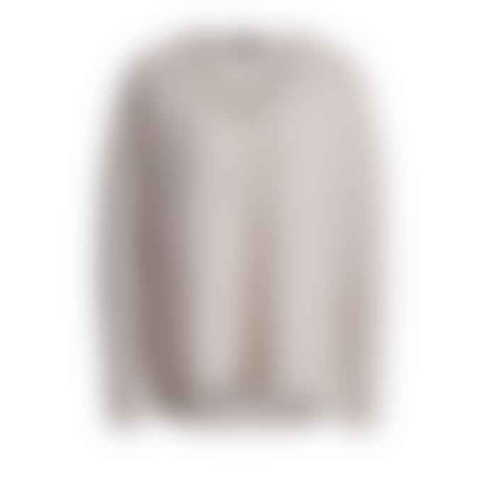 Set Fashion Casual Oatmeal Cashmere Sweater