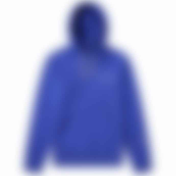 Champion Blue Small Script Logo Reverse Weave Hoody