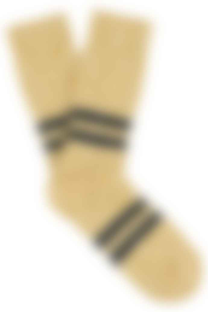 Escuyer Melange Stripe Mustard Anthracite Socks