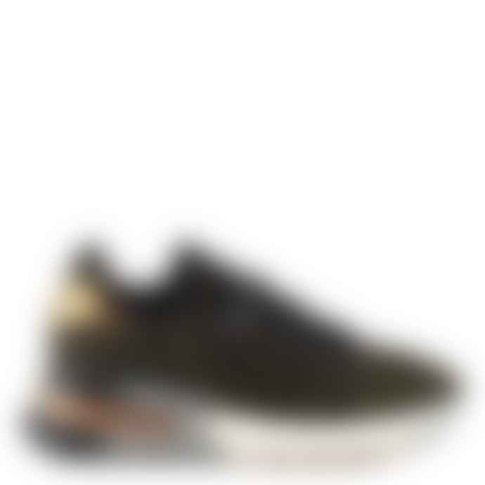 Ash Black and Gold Knit Krush Bis Trainers Shoes