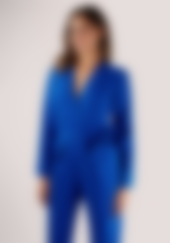 Closet London Blue Long Sleeve Crossover Jumpsuit