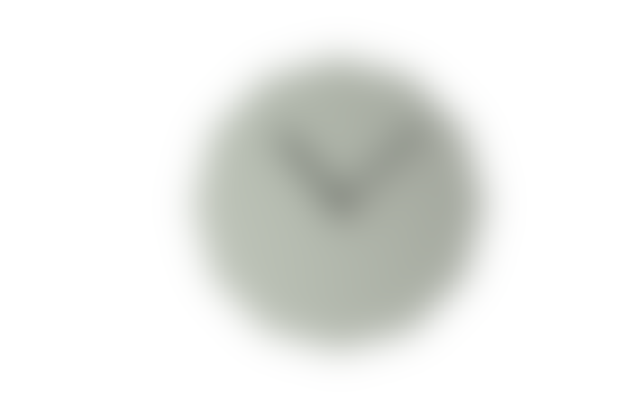 NEO/CRAFT Grey Twelve Sided Wall Clock