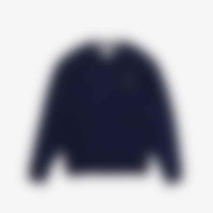 Lacoste Navy Cotton Fleece Crew Sweatshirt