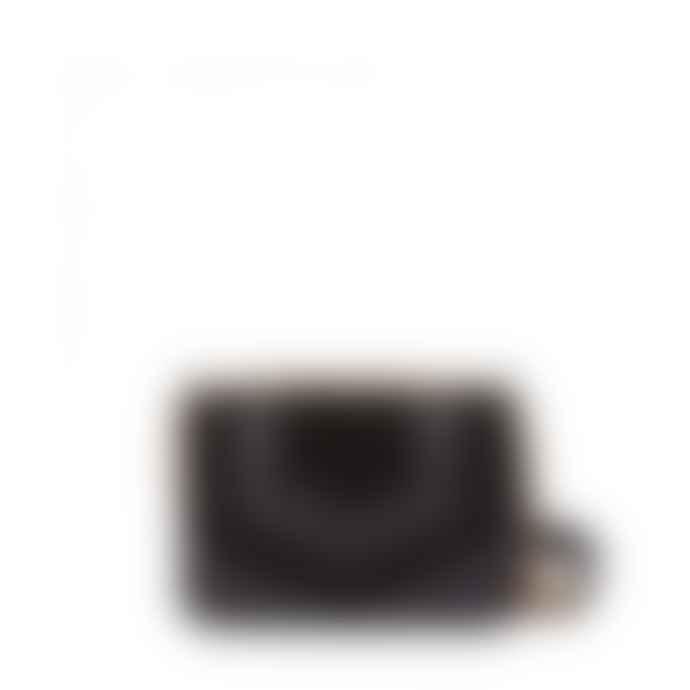 Nat & Nin Black Leather Capri Clutch Bag