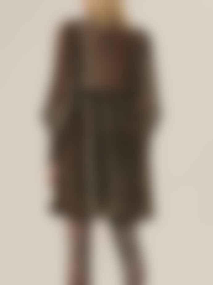 Ganni Pleated Leo Mini Dress