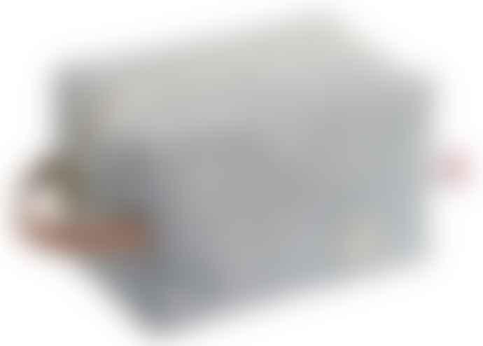 La Cerise Sur Le Gateau Charcoal Caviar Stripe Cube Toiletry Bag