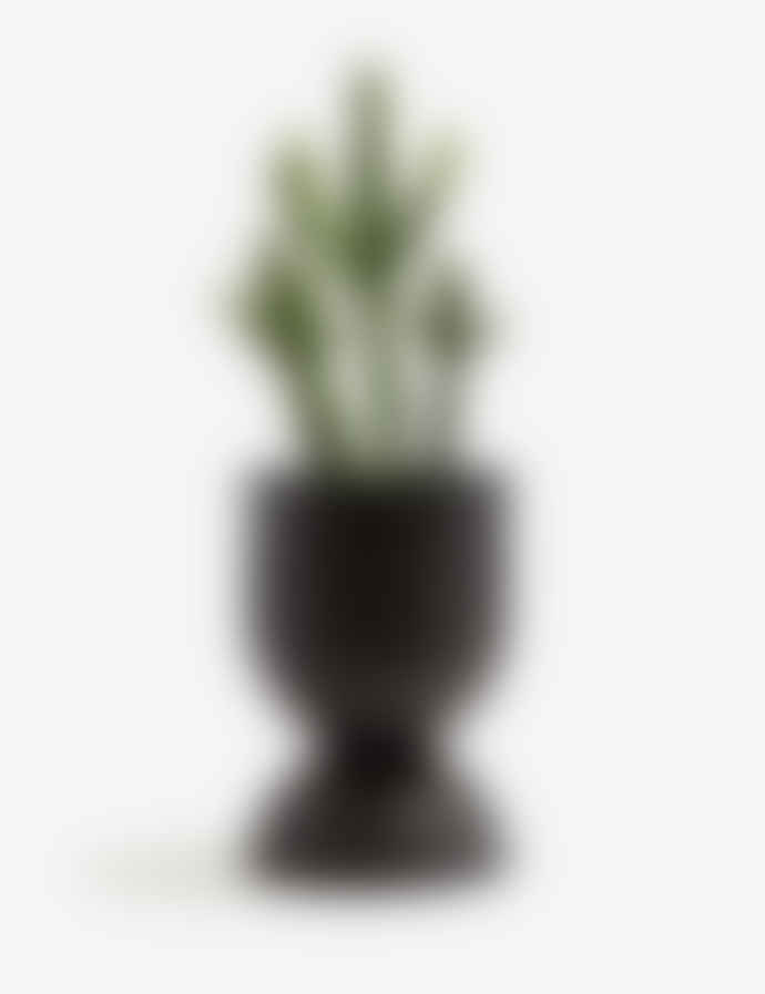 Ferm Living Blackened Metal Small Hourglass Plant Pot