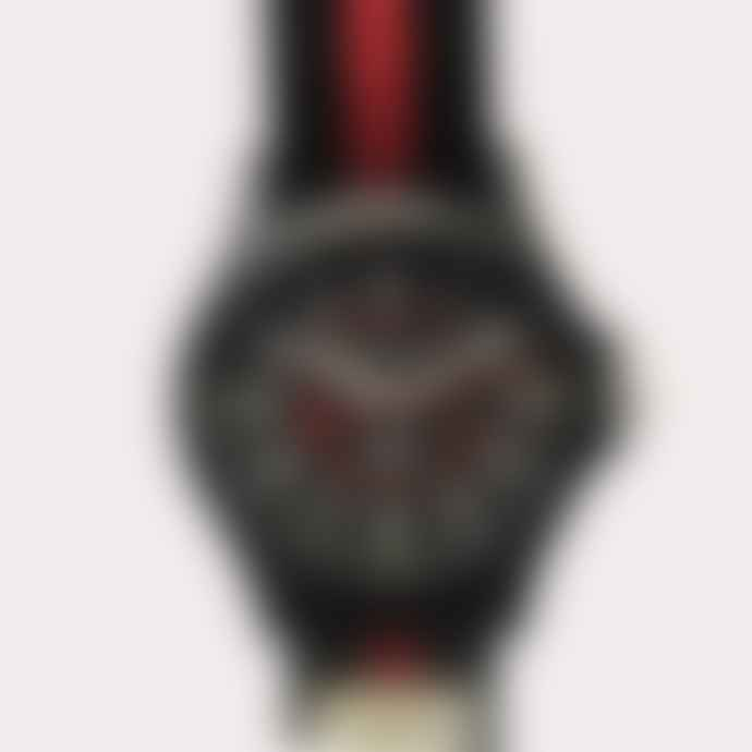 Timex Archive Timex Acadia Watch Black Case Black Dial Stripe Strap