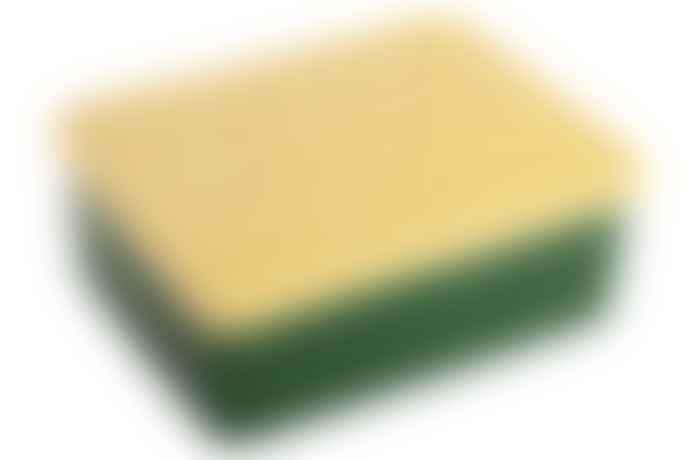 BLAFRE Dark Green and Light Yellow Plastic Bear Lunch Box