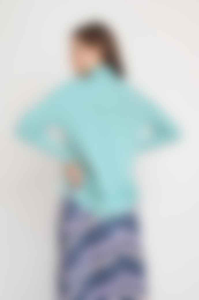 Levete Room Gwen Pullover In Turquoise
