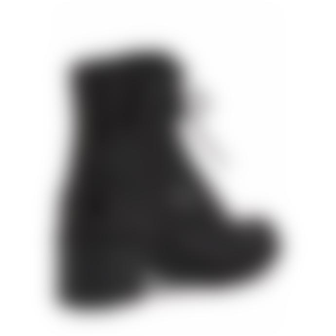 Ash Mustang Black Leather Biker Boots