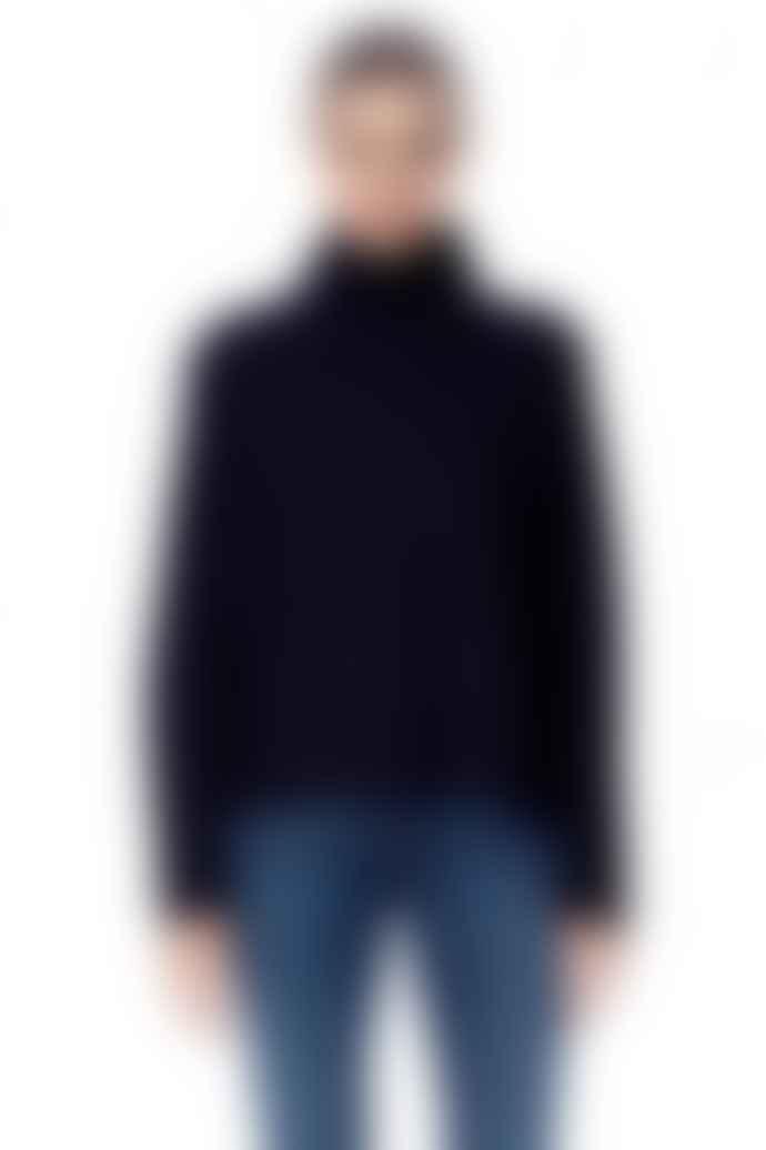 360 Cashmere Navy Margaret Cashmere Sweater