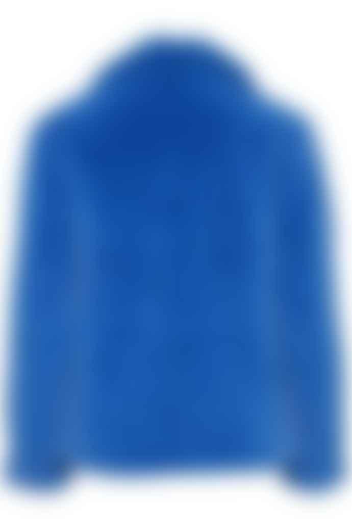 ICHI Blue Teddy Bear Coat