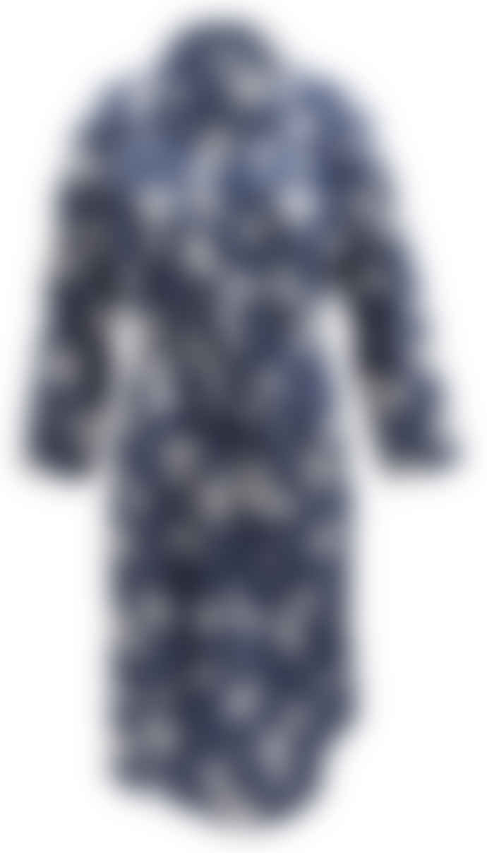 Wallace Cotton Blue Floral Cotton Delilah Robe