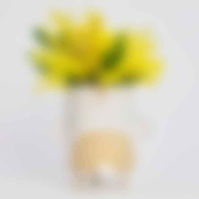 Atelier Stella Shiny White Rainbow Tubby Tripod Vase
