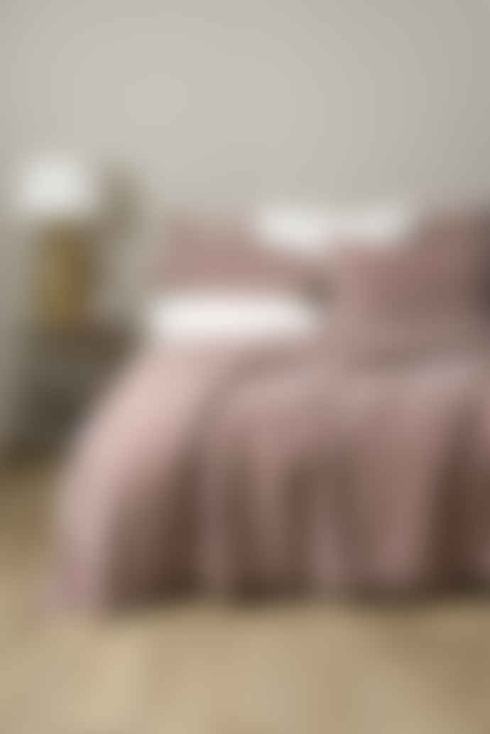 Wallace Cotton 265 x 240cm Rose Chalet Quilted Velvet Bedspread