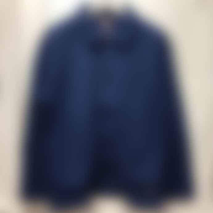 Armor Lux Cotton Fleece Chore Jacket Ink Blue