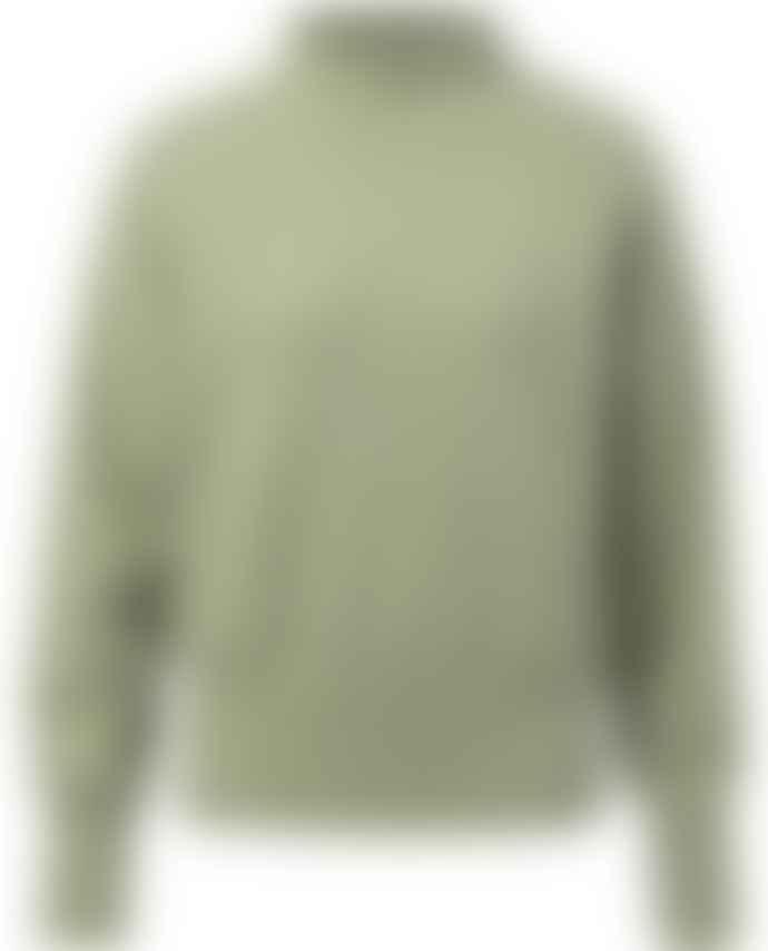 Yaya Utility Green Polo Neck Knit