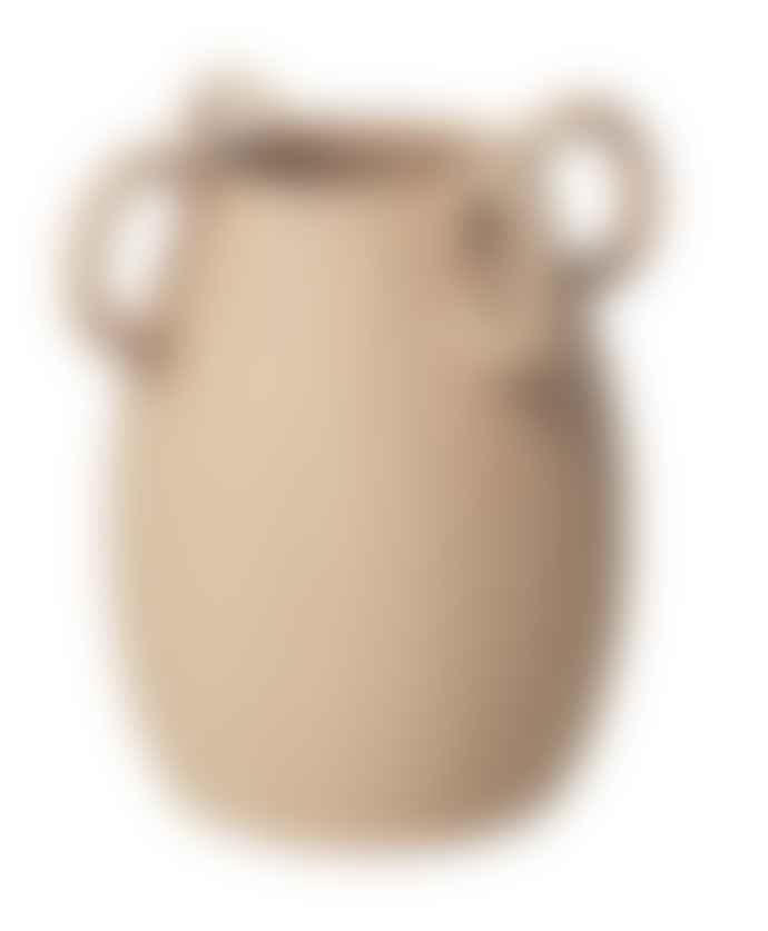 Broste Copenhagen Medium Sand Ceramic Horn Vase