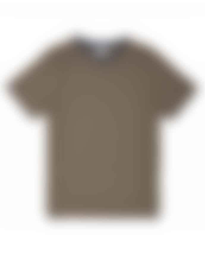 Oliver Spencer Conduit T-Shirt in Morata Navy & Yellow Multi Stripe