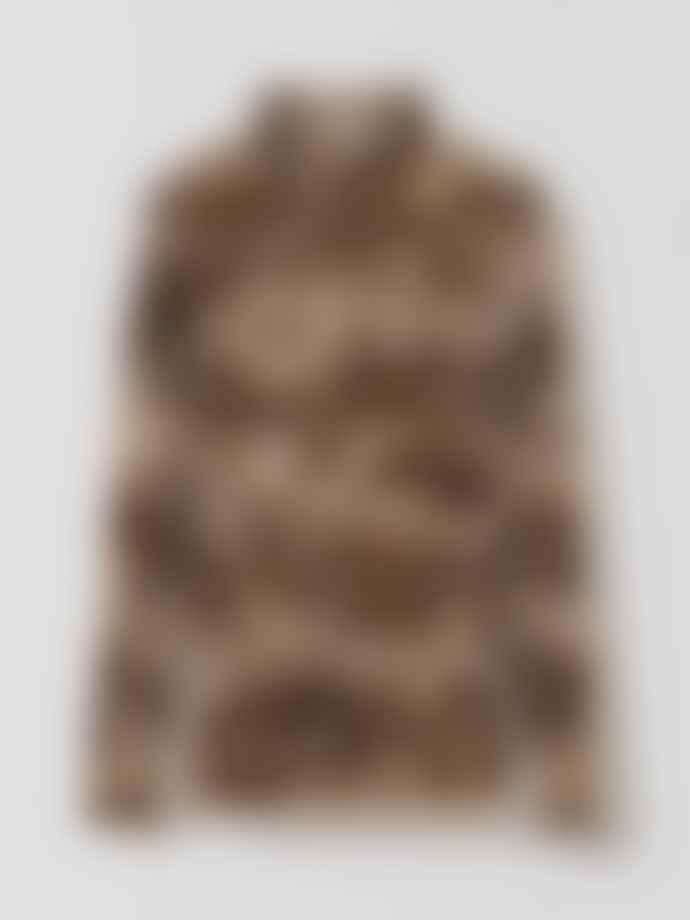 Ganni Snake Printed Mesh Rollneck Top