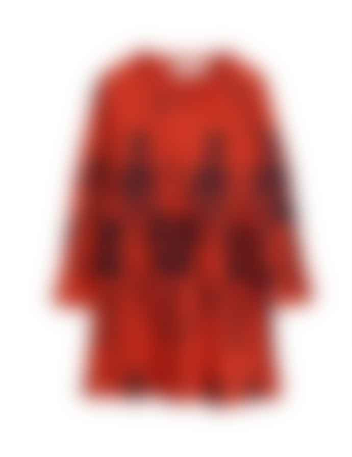 Mini Rodini Aw 19 Skeleton Aop Ls Dress