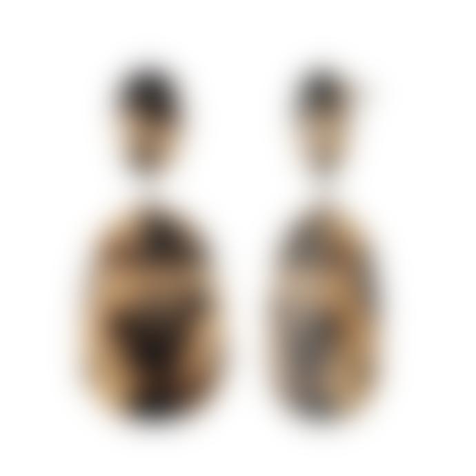 Machete Blonde Tortoise Grande Drop Earrings
