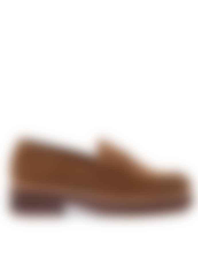 Nice Things Cinnamon Suede Loafer