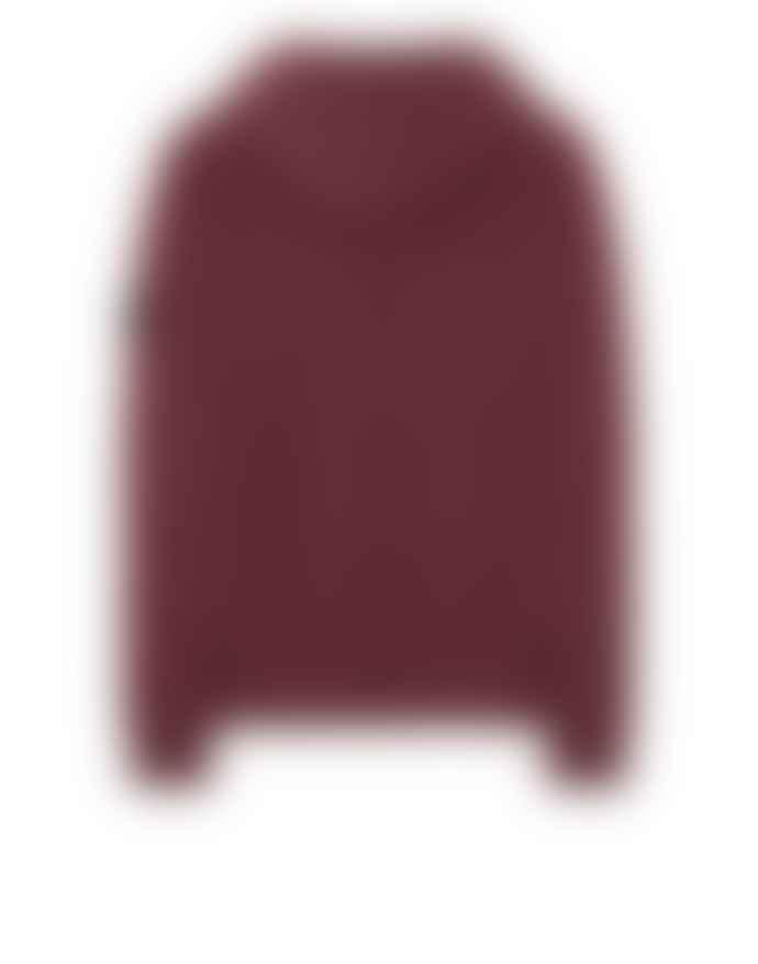 Stone Island Dark Burgundy Cotton Hooded Sweatshirt