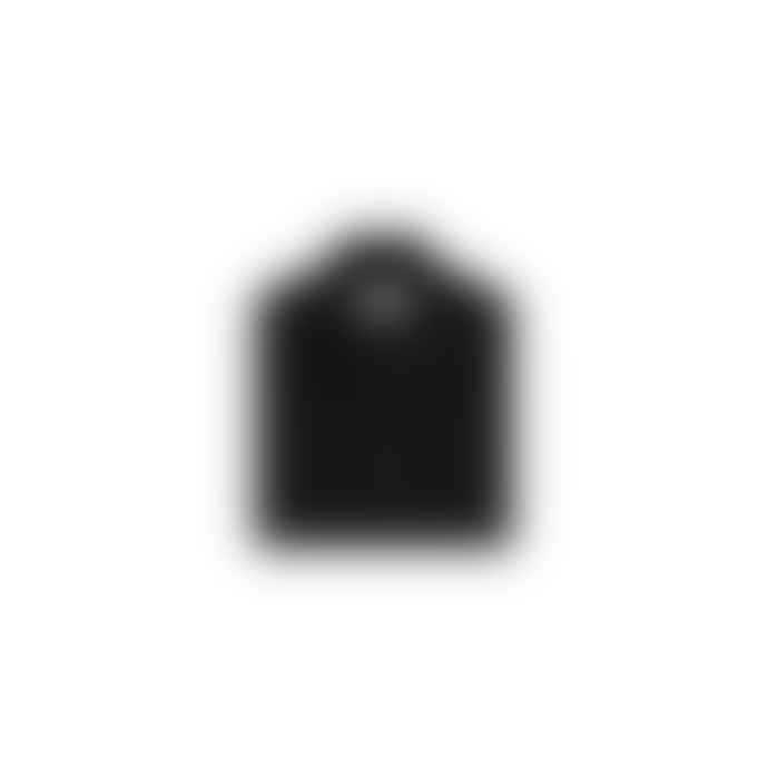 Stone Island Black Lambswool Half Button Sweater