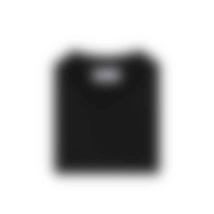 Stone Island Black Wool Crewneck Sweatshirt