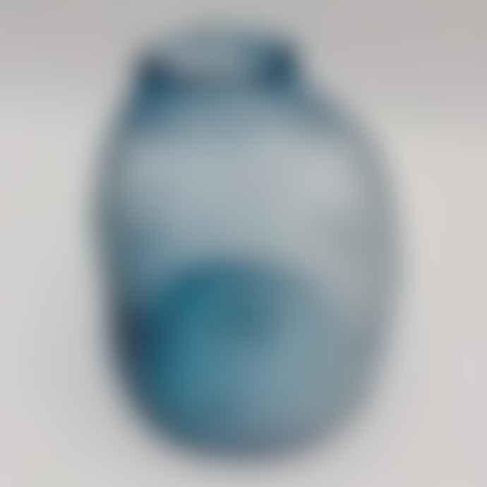 Broste Copenhagen Anneke Glass Vase Blue