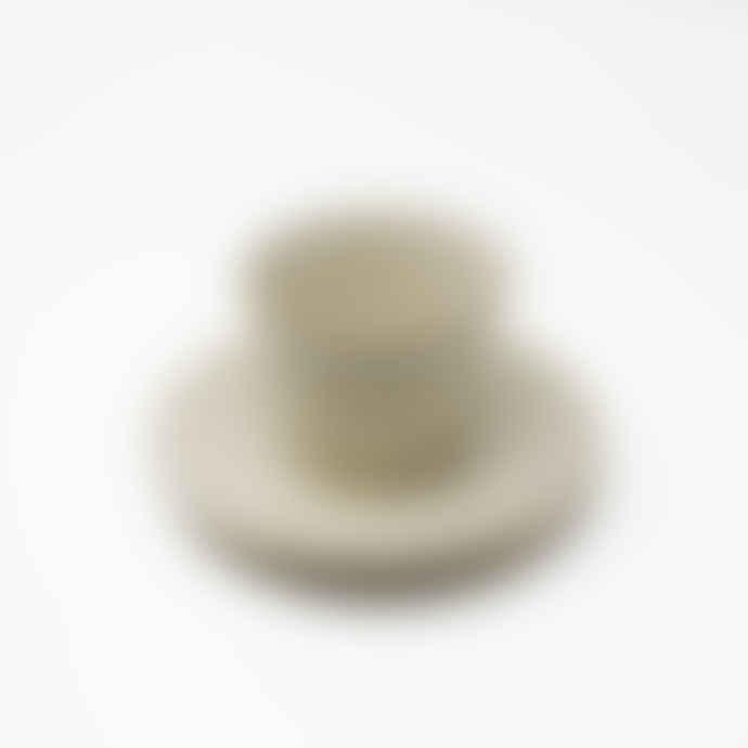 Gonggi Small Light Beige Teacup and Saucer Set