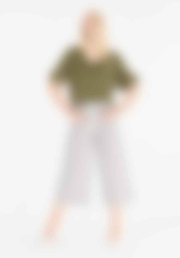 Paisie Navy stripes culotte pants
