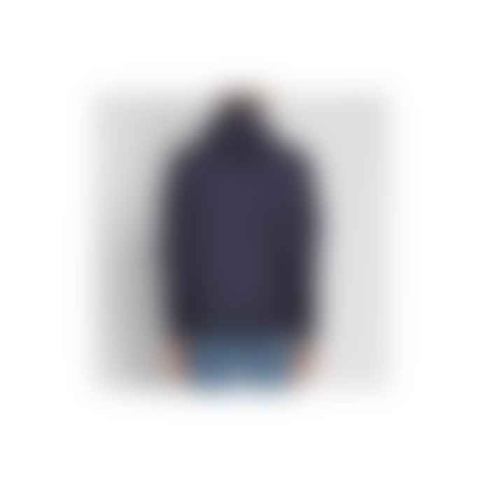 Stone Island Ink Blue Nylon Membrana Hooded Jacket