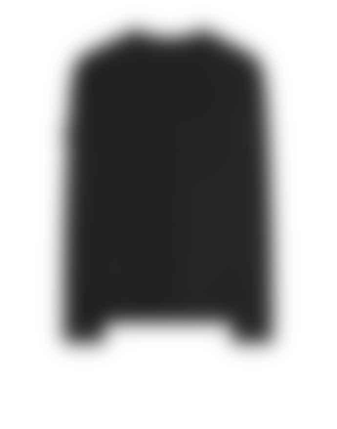 Stone Island Black Cotton Crew Neck Sweatshirt