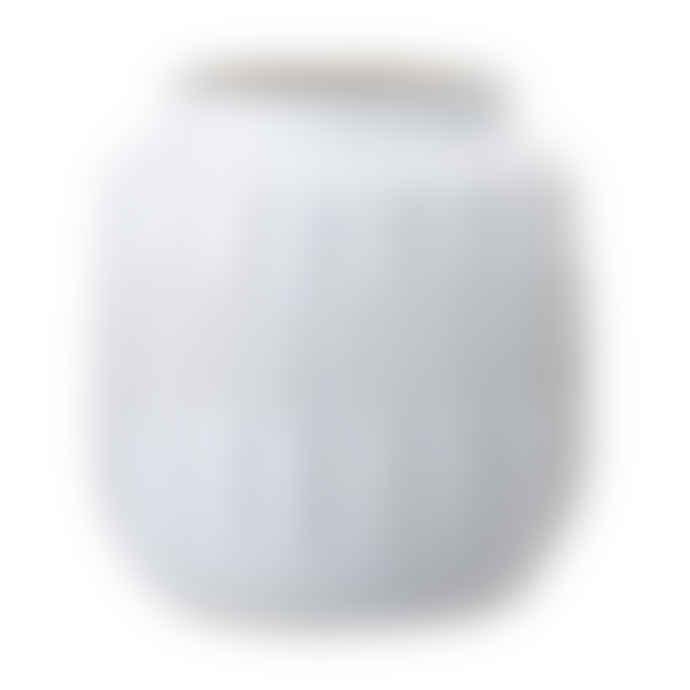 Bloomingville Decorative White Glossy Vase